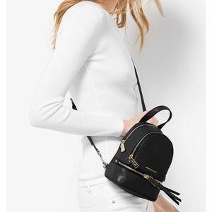 Michael Kors small rhea leather backpack